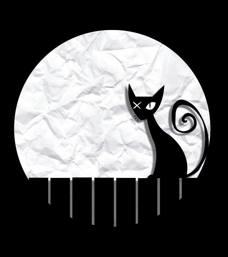 Жил на свете кот Маркел, На окошке он сидел.  Сам был черный, черный.