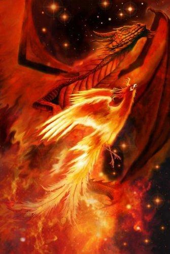 """Феникс (возможно от греч. φοίνιξ, """"пурпурный, багряный """") - легендарная птица управляющая временем..."""