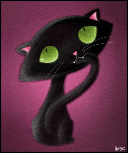 вышивки черных кошек.