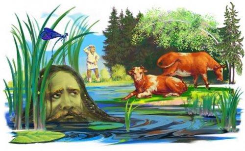 Водяной - дух, который следил за порядком в воде.  Он мог порвать сети рыбаков...