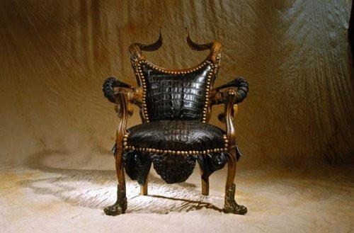 Мебель из замка самого Сатаны. Работы Michel Haillard