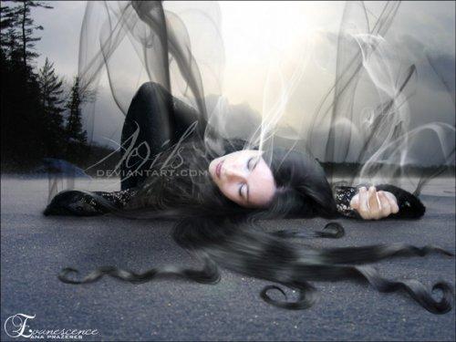 Леди, с длинными чарующими волосами