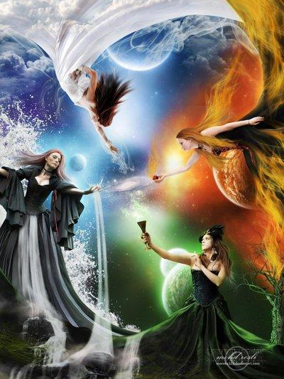 Как известно, знаки Зодиака характеризуют четыре стихии: Огонь, Вода