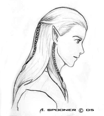 Рисованный Леголас...