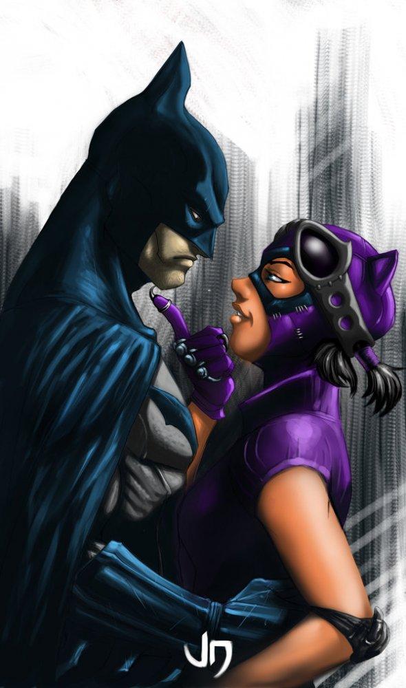Женщина кошка и бэтмен любовь