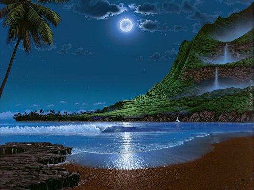 Steven Power Art - Water Dance. Сказочные пейзажи