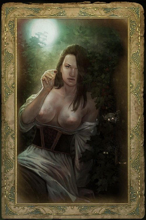 Media in category The Witcher images - Censored romance cards .