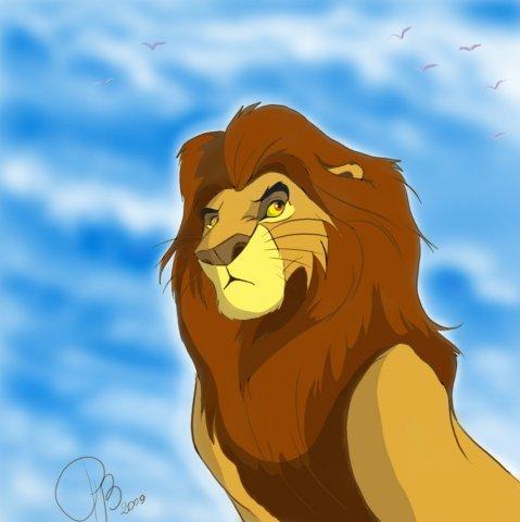 Раскраска Сараби и Муфаса  Раскраски король лев для детей