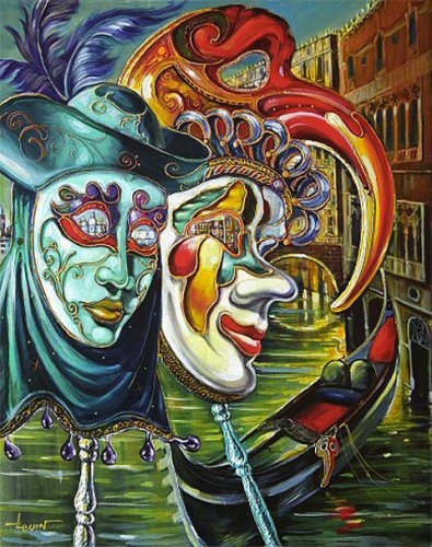 Художник Алекс Левин (Alex Levin).  Venetian Fantasy (36 работ) .