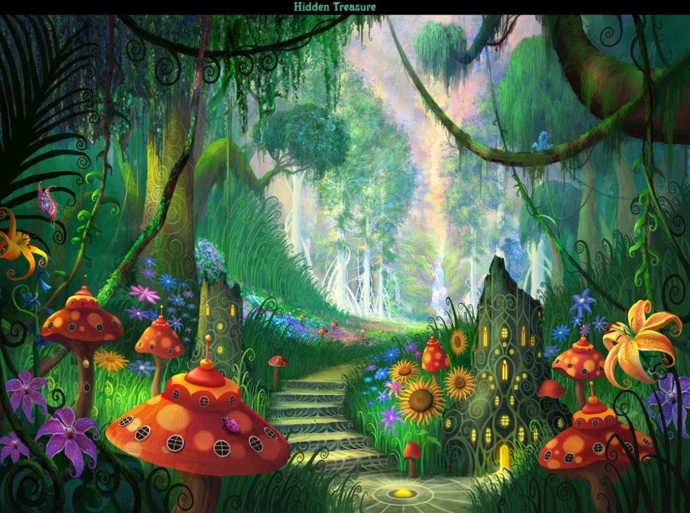 Сказочные цветы картинки для детей 3