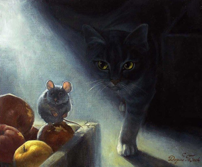 кошки-мышки Gif анимации, Mira1, картинки, поздравления, пожелания, gifки.