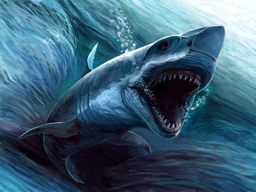 На этой неделе соревнуются вымершая (?) акула МЕГАЛОДОН.  Скрытый текст. и наш...