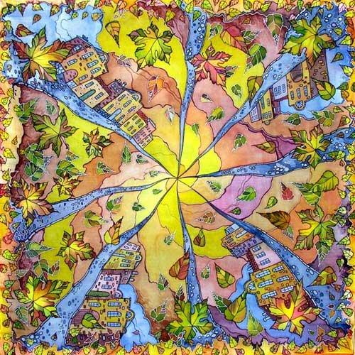 Батик - искусство росписи по ткани