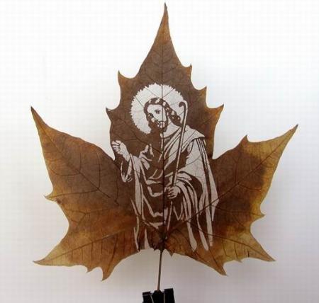 Ювелирная резьба по листьям