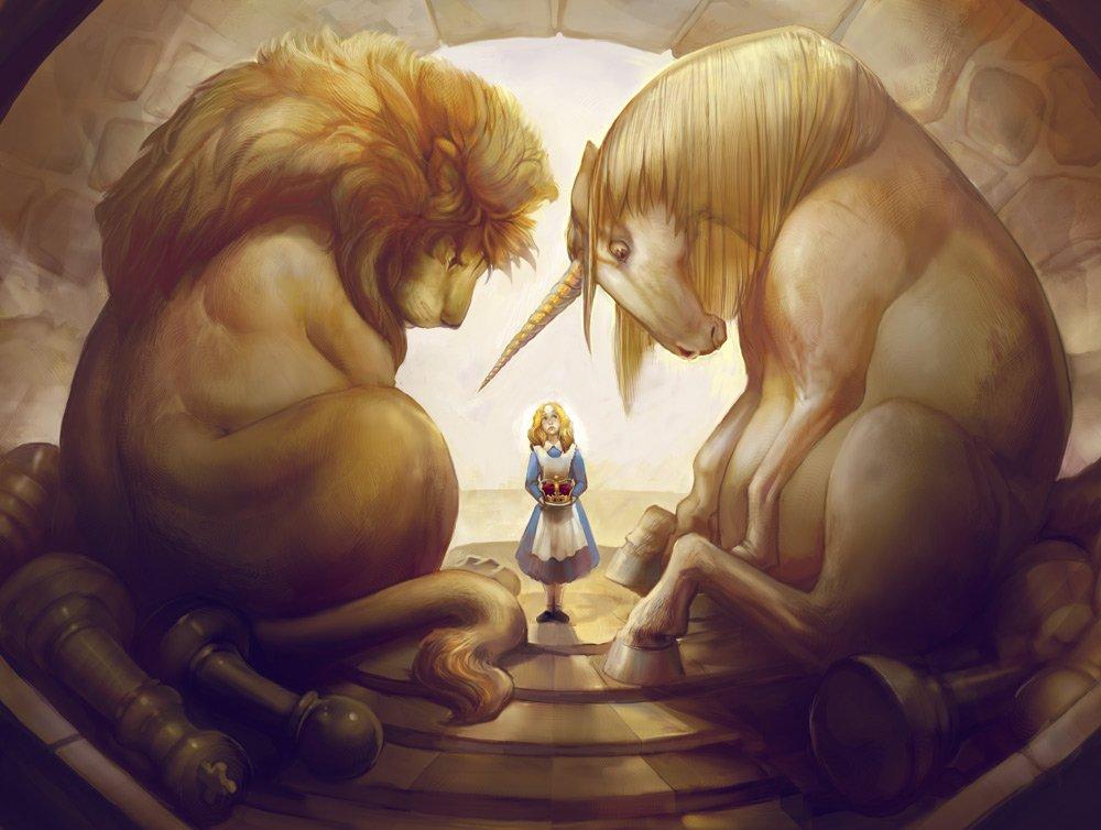 герб лев и единорог