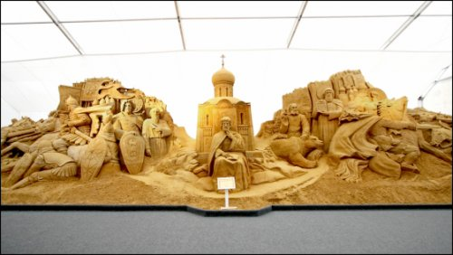 """Выставка скульптуры из песка """"Святая Русь"""""""