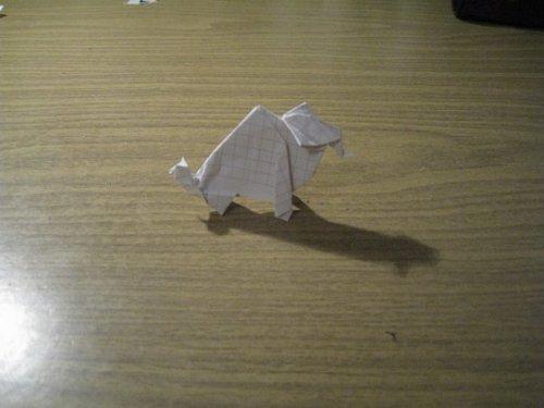 Как устроить дракона из бумаги