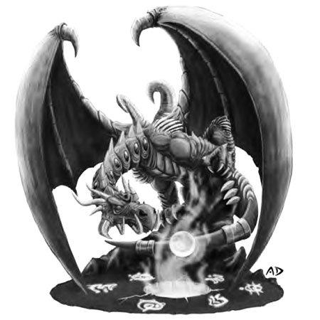 Норганнон, хранитель знаний титанов, наградил синего дракона Малигоса