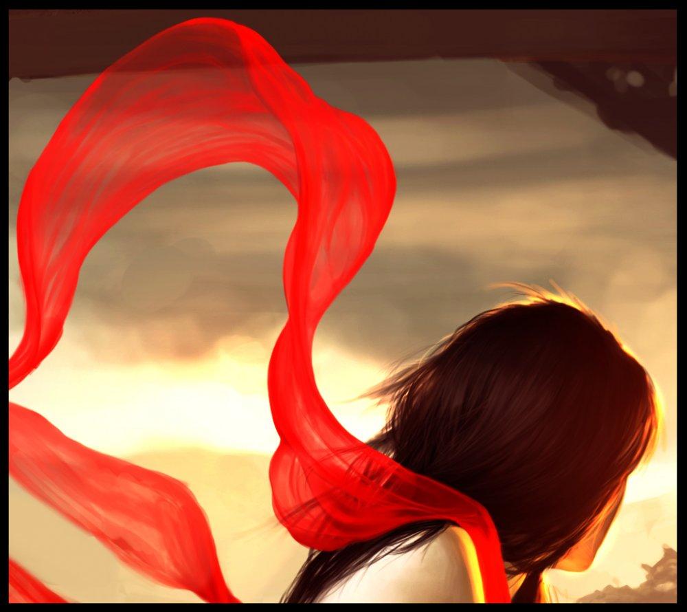 Шарф на ветру 2