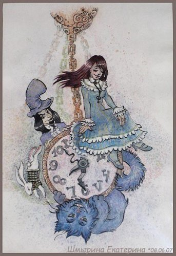 Time alice in wonderland by Shmyrina. часы алиса и безумный шляпник стихи.