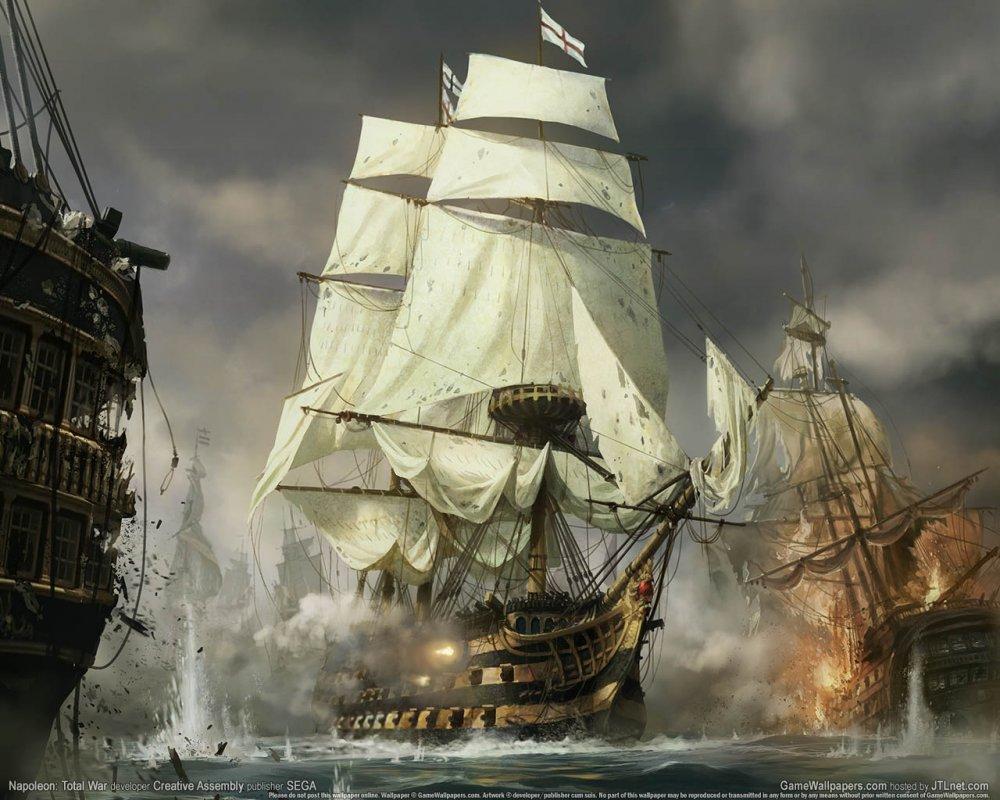 "Схема вышивки  ""бой на море "" ."