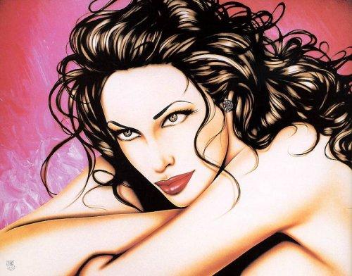 """Непревзойденная живопись Джанеско достигла мирового признания.   """"Плейбой """" печатал ее работы с 1998 по 2001 год."""
