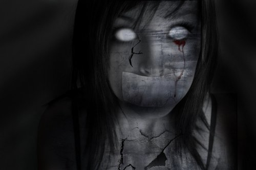 3d обои Что-то очень страшное (Лицо девушки без глаз) Рисунки 78780.