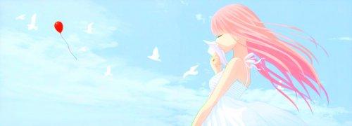 Обоя под названием вокалоид, девушка, оригами, небо, мысли, облака, птицы.