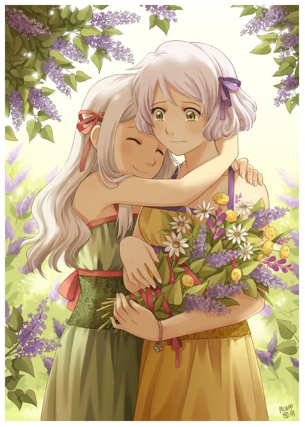 картинки аниме мама: