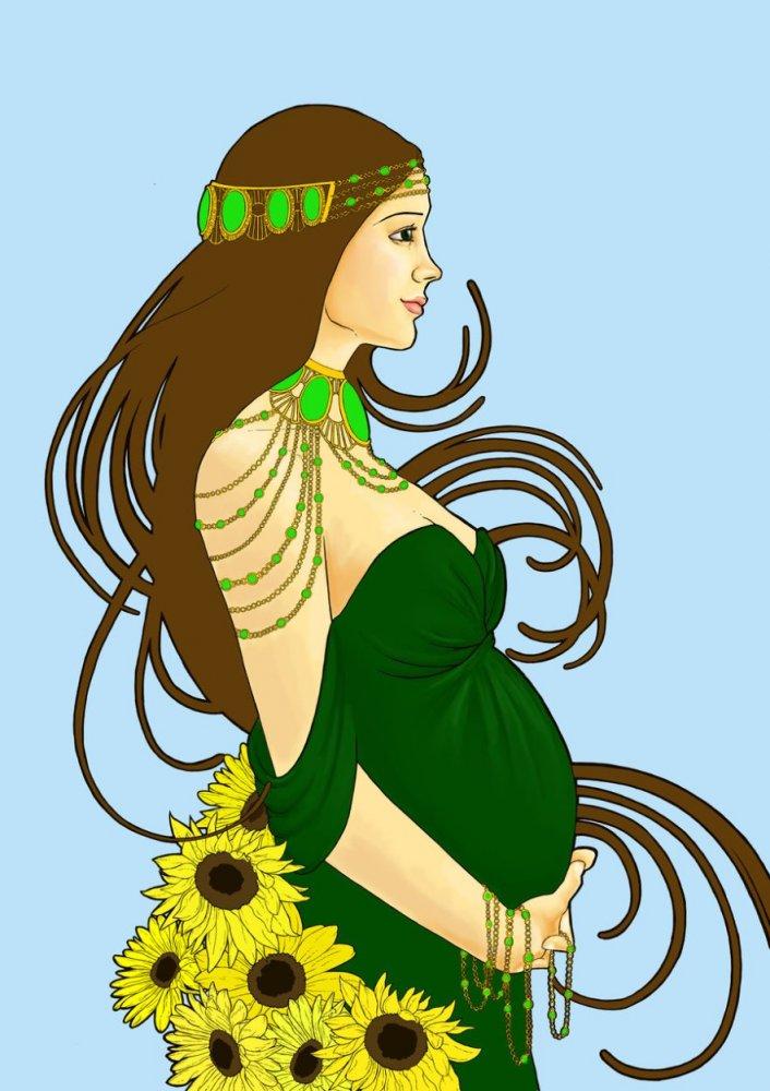 """Схема вышивки  """"Беременные девушки3 """": предпросмотр."""