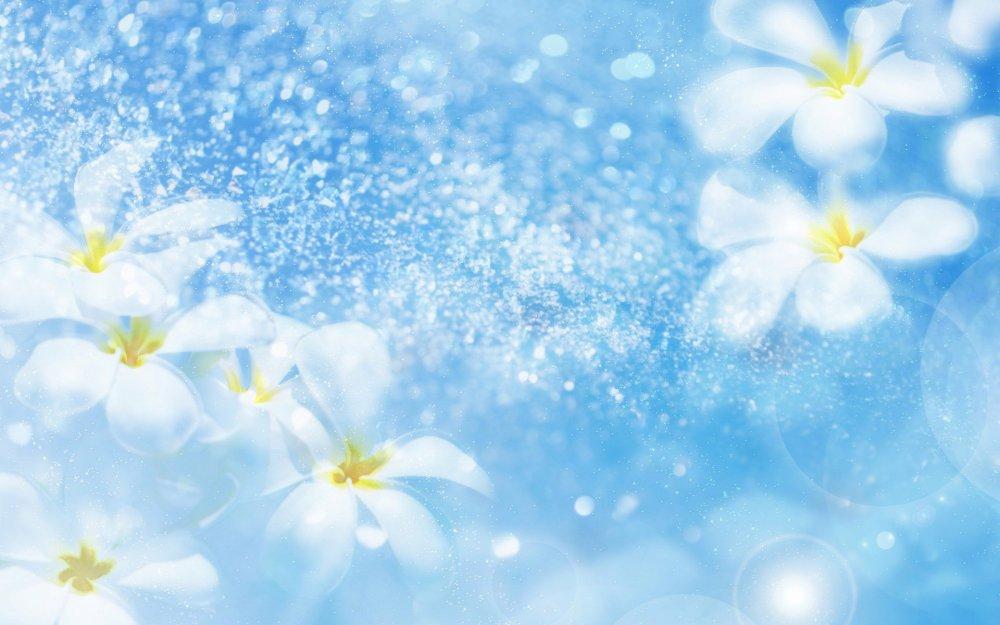 Картинки с блёстками цветы 4
