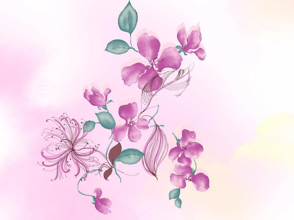 Картинки цветы срисовать 1