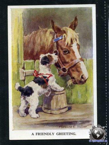 Старинные открытки с лошадьми 53