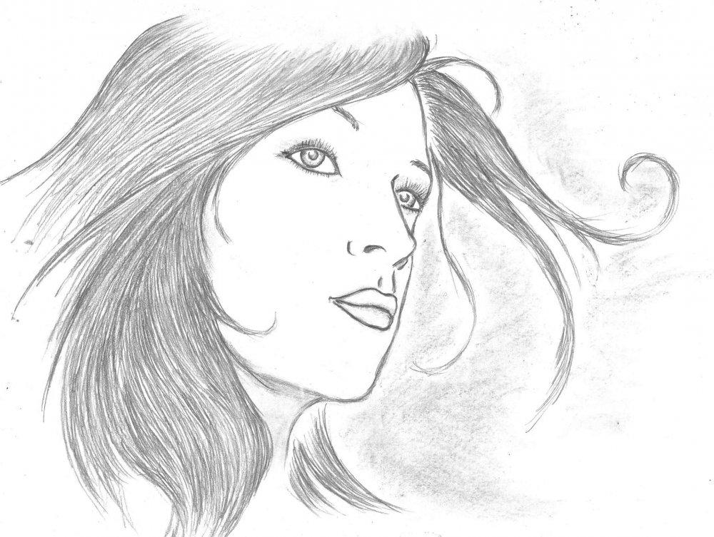 рисунки девушек для начинающих: