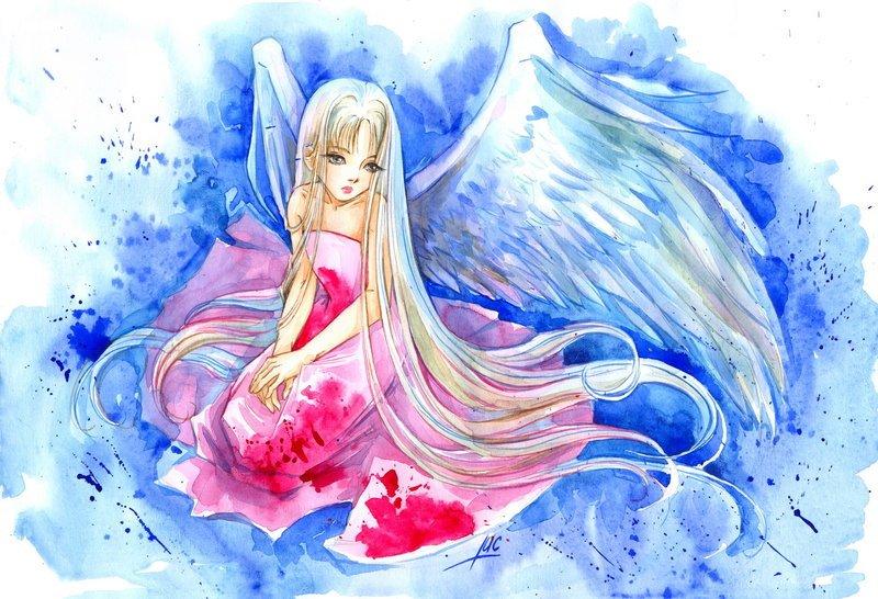 картинки карандашом ангелы