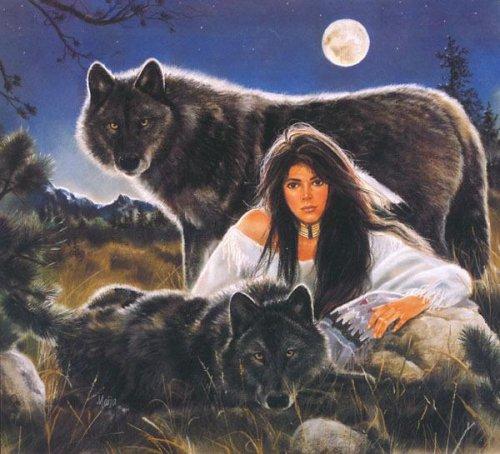Другой гигантский волк находится на