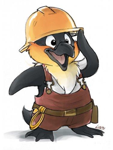 """Схема вышивки  """"Пингвин-строитель """": таблица цветов."""