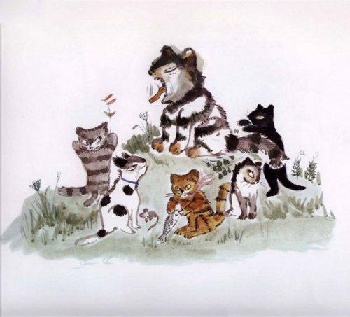 Сказка про кота, который жил миллион раз