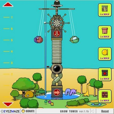 "Флэш игра ""Grow Tower"""