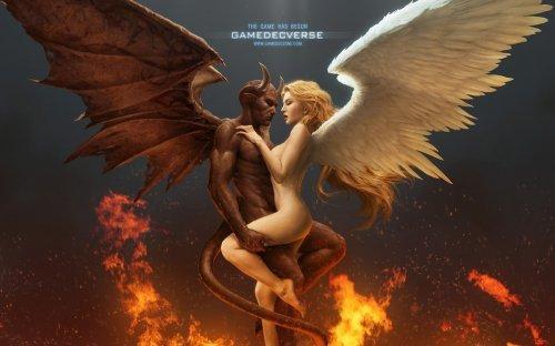 Рисунки фэнтези демоны и ангелы фото 4-321