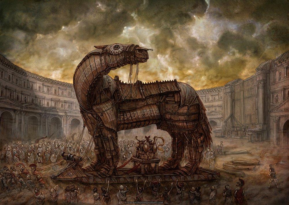 Рисунок деревянной лошади 3