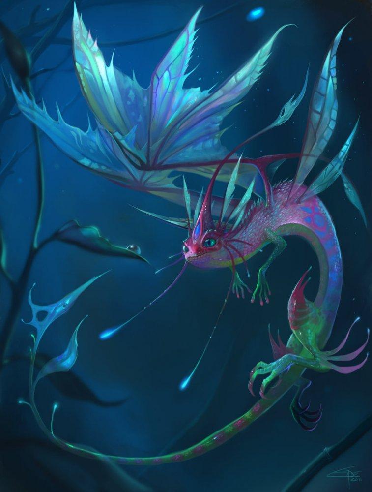 art / красивые рисунки и картины дракон поделка из бисера ящерица.