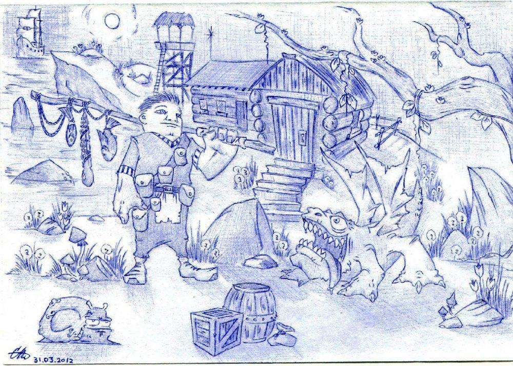 Рисунки подростков ручкой