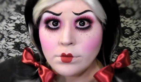 Dead doll makeup