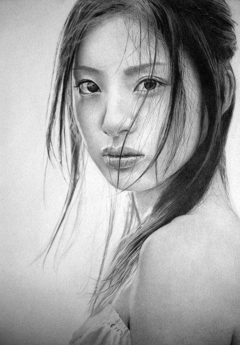 рисунки восточных девушек:
