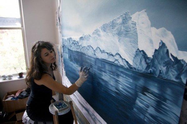 Холодное синее море Зарии Форман (Zaria Forman)
